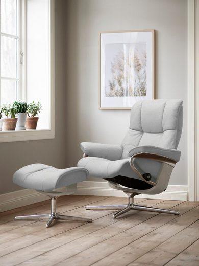 Stressless® Relaxsessel »Mayfair«, mit Cross Base, Größe S, M & L, Gestell Whitewash
