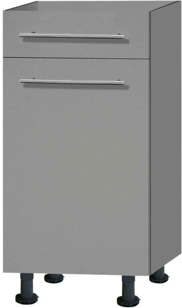 OPTIFIT Unterschrank »Bern« 40 cm breit, mit 1 Tür, mit 1 Schubkasten, mit höhenverstellbaren Füßen, mit Metallgriffen