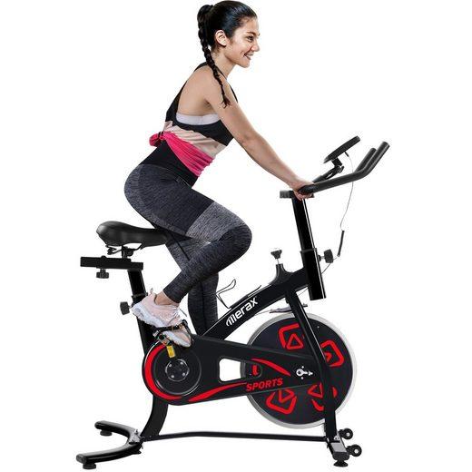 Merax Speedbike »Phanes«, Heimtrainer Fahrrad, Indoor Cycle, mit LCD-Konsole