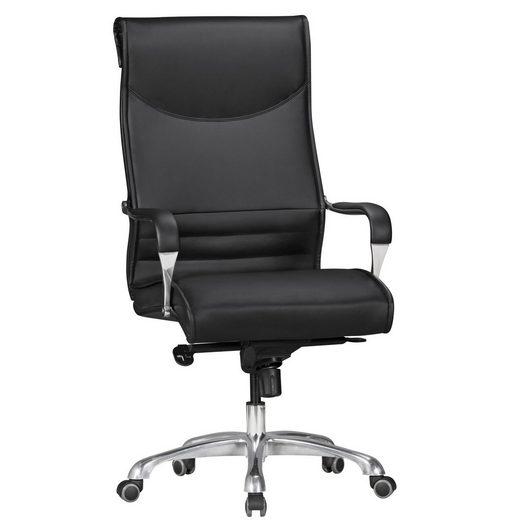 FINEBUY Chefsessel »SuVa14330_1«, Bürostuhl CHAMP Bezug Kunstleder Schreibtischstuhl bis 150 kg, XXL Design Chefsessel höhenverstellbar, Drehstuhl ergonomisch mit Armlehnen & hoher Rückenlehne, Hochlehner mit Wippfunktion