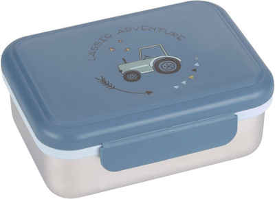 LÄSSIG Lunchbox »Adventure Tractor«, Edelstahl, Polyprophylen (PP), Silikon, (1-tlg)