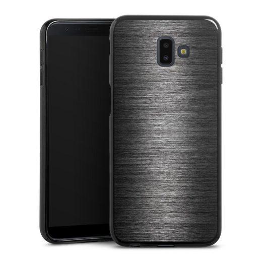 DeinDesign Handyhülle »Metal Look - Anthrazit« Samsung Galaxy J6 Plus Duos (2018), Hülle Metallic Look Metall Thermomixmotive