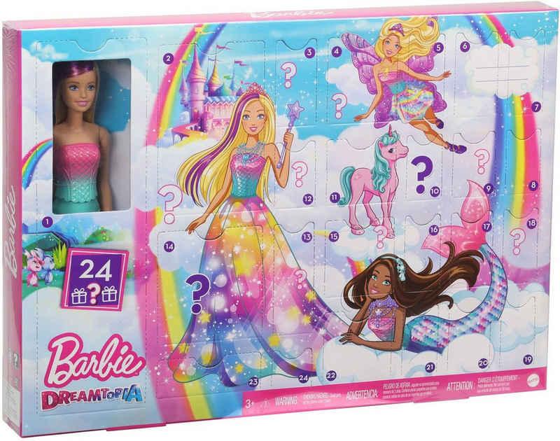 Barbie Adventskalender »Dreamtopia«, mit Barbie Puppe und Puppen-Zubehör
