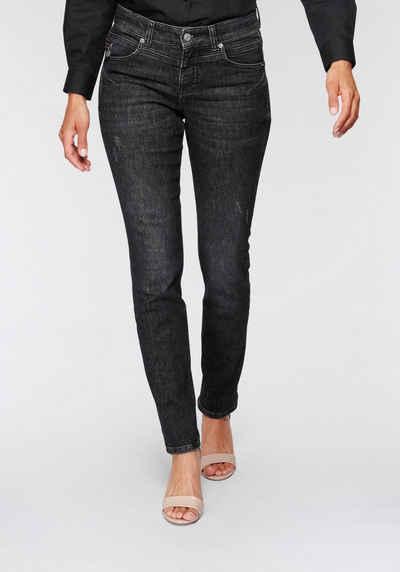 MAC Slim-fit-Jeans »Rich-Slim-Hanf« Besondere Teilungsnähte im Rücken sorgen für einen Push-Up Effekt