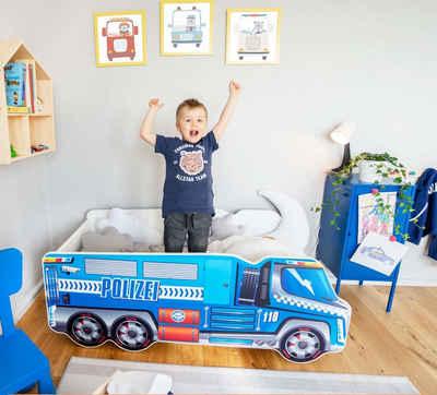 Alcube Autobett »Kinderbett 70x140 cm«, Spielbett mit Rausfallschutz inkl. Matratze und Lattenrost