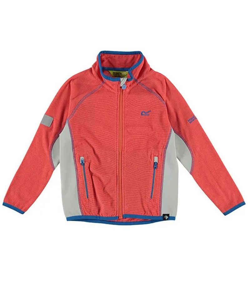 Regatta Outdoorjacke »REGATTA Pira Freizeit-Jacke weiche Kinder Pullover-Jacke Outdoor-Jacke Rot/Grau«
