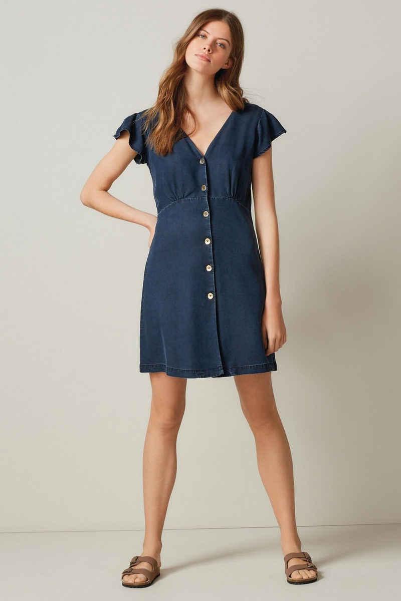 Next Jeanskleid »Durchgeknöpftes Kleid aus Lyocell-Mischung« (1-tlg)