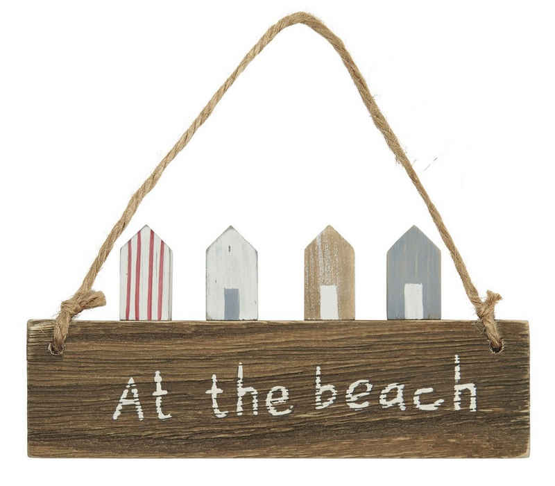 "Ib Laursen Wandbild »Ib Laursen - Holzschild ""At the beach"" (3880-00) Holz- Deko- Wand- Tür- Schild«"
