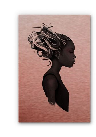 Wall-Art Metallbild »Black Lives Matter Say Her...