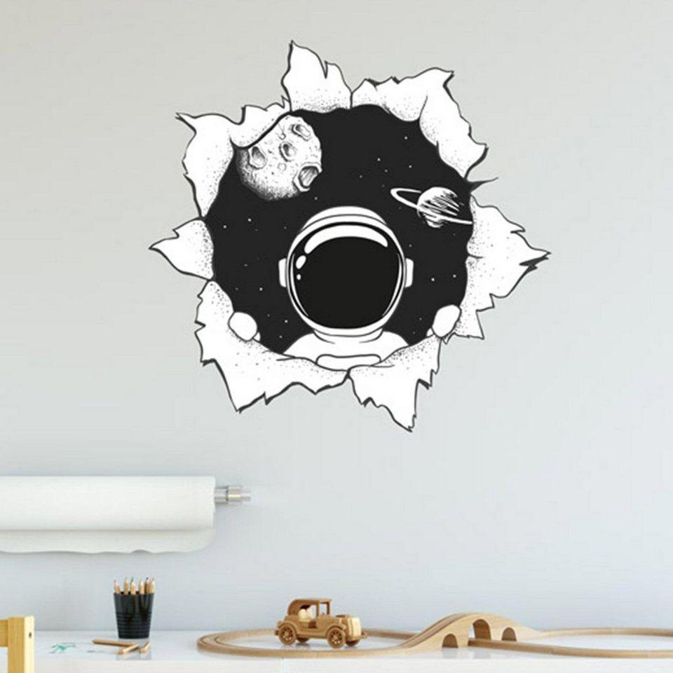 Sunnywall Wandtattoo »Astronaut Wanddurchbruch   Weltraum Wandtattoo  Kollektion   Wandaufkleber« online kaufen   OTTO