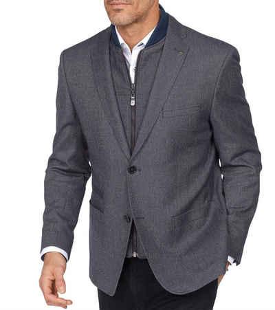 Roy Robson Sakko »ROY ROBSON Sakko Anzug-Jacke fein gemustertes Herren Jackett mit abnehmbarem Blouson-Einsatz Business-Jacke Marine«
