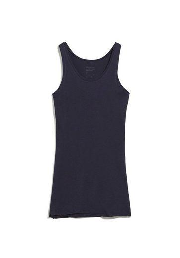 Armedangels Shirttop »BEAA SOFT Damen Top aus Bio-Baumwolle Fitted« (1-tlg) leicht transparent