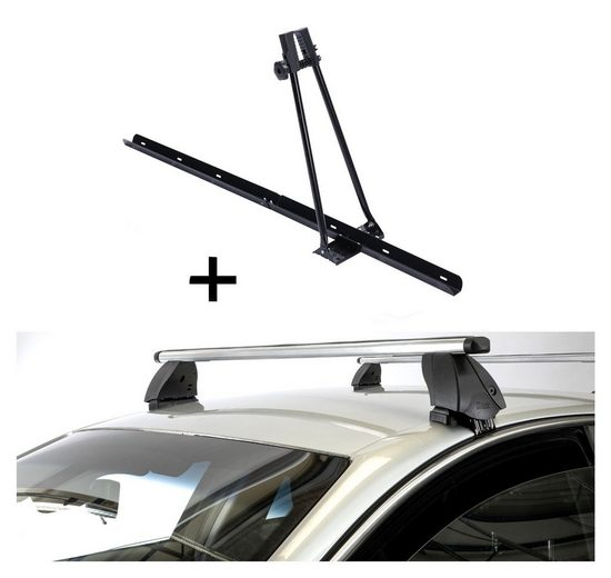 VDP Fahrradträger, Fahrradträger ORION + Dachträger K1 PRO Aluminium kompatibel mit Opel Adam (3Türer) ab 13