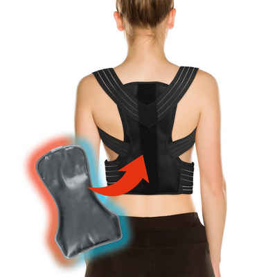 MAXXMEE Rückentrainer, Rückenkorrektor / Haltungskorrektor mit Gelpad S/M