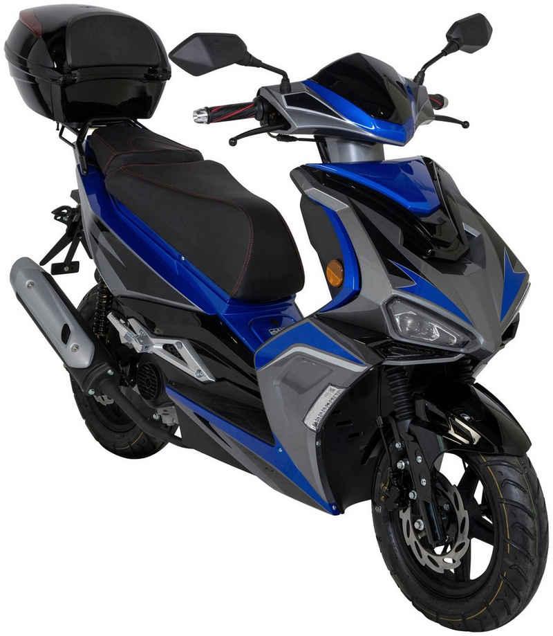 GT UNION Motorroller »Striker«, 50 ccm, 45 km/h, Euro 5, (Set), mit Topcase