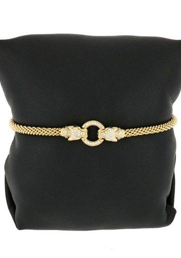 Firetti Armband »Tigerköpfe und Ring  vergoldet  Glanzoptik«  mit Zirkonia