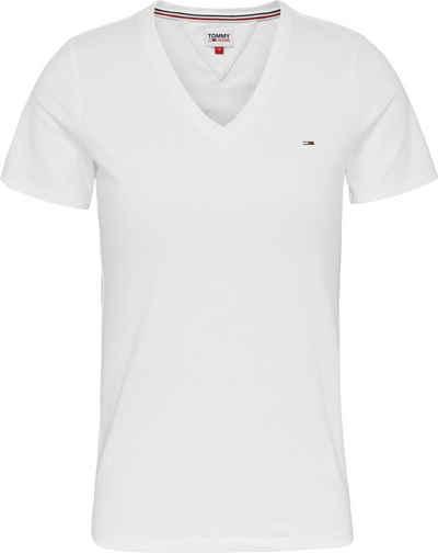 Tommy Jeans V-Shirt »TJW SKINNY STRETCH V NECK« mitTommy Jeans Logo-Flag auf der Brust