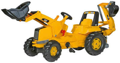 Rolly Toys Tretfahrzeug »CAT«, Kindertraktor mit Lader und Heckbagger