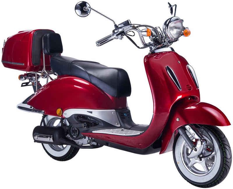 GT UNION Motorroller »Strada«, 125 ccm, 85 km/h, Euro 5, (Set), mit Topcase
