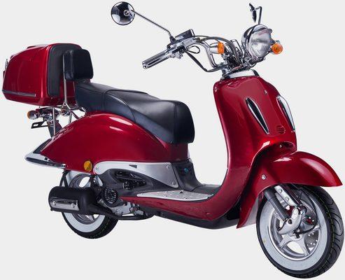 Motorroller »Strada«, 125 ccm, 85 km/h, Euro 5, (Set), mit Topcase