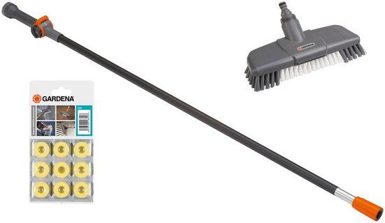 Reinigungsbürste »Schrubber 05586-20«, GARDENA, (Set), Waschbürste, Wasserstiel und Shampoo