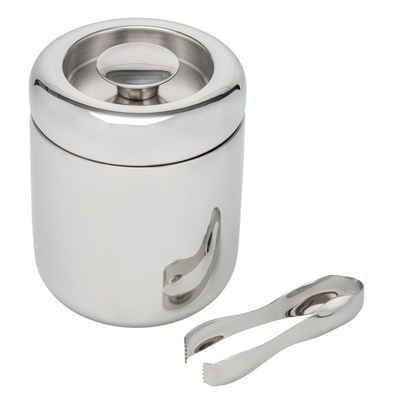 bremermann Eiswürfelbehälter »bremermann Eiswürfelbehälter mit Zange, Edelstahl-«, Edelstahl, Fassungsvermögen 1,5 l