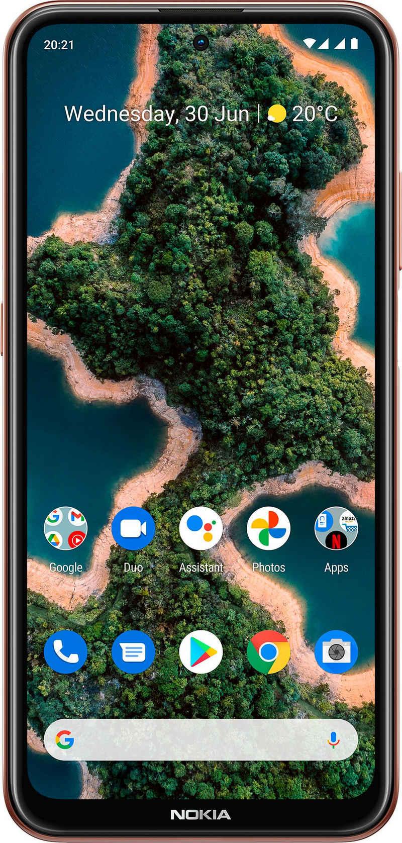 Nokia X20, 8+128 GB, Dual SIM Smartphone (16,94 cm/6,67 Zoll, 128 GB Speicherplatz, 64 MP Kamera, 3 Jahre Herstellergarantie)