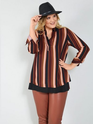 Sara Lindholm by Happy Size Longbluse in Schlupfform