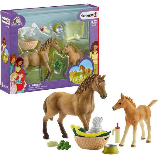 Schleich® Spielfigur »Schleich 42432 Horse Club: Sarahs Tierbaby-Pflege«