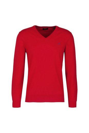 Gant V-Ausschnitt-Pullover »Stretch Cotton Contrast V-Neck«