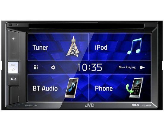 JVC Audio-System (JVC KW-V250BT - DVD, Bluetooth, CD/DVD, USB, Android, iPhone, 2-DIN Autoradio)
