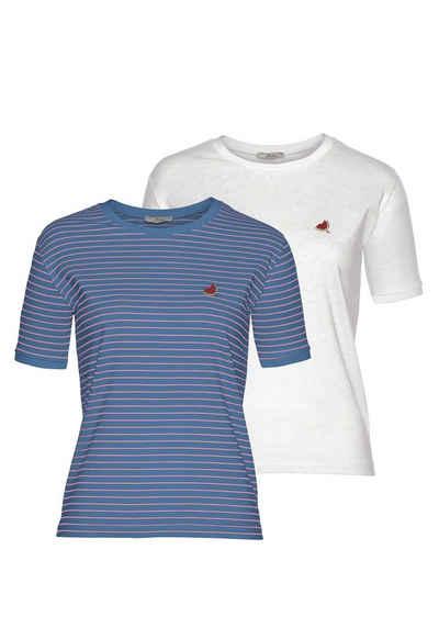 LTB T-Shirt »MALESO« mit süßer Stickerei auf der Brust