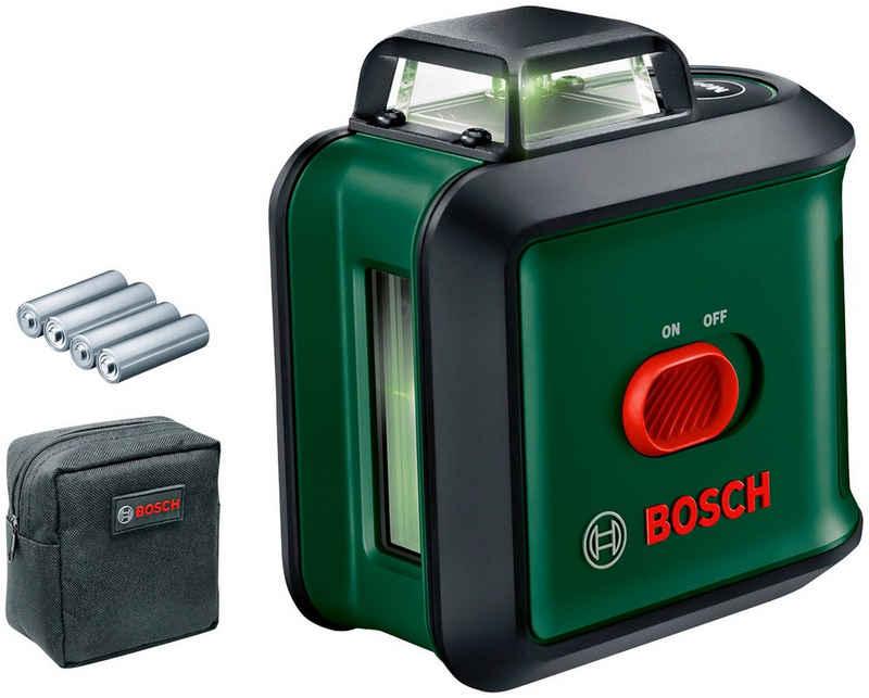 Bosch Powertools Kreuzlinienlaser »UniversalLevel 360 Set«, (Set), Ø Arbeitsbereich: 24m