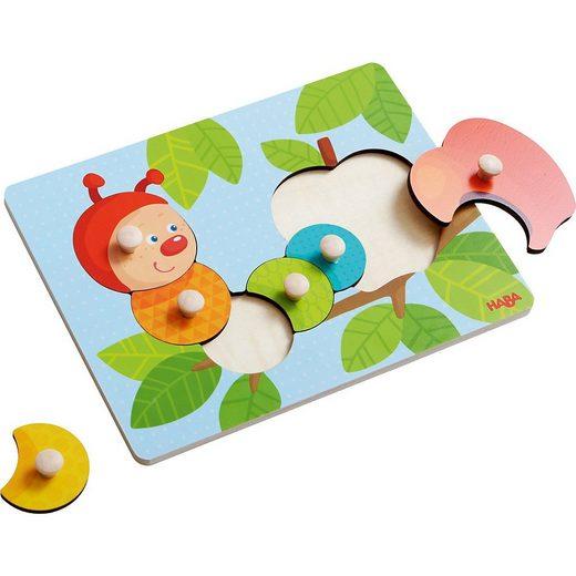 Haba Steckpuzzle »HABA 303189 Greifpuzzle Raupe Mina«, Puzzleteile
