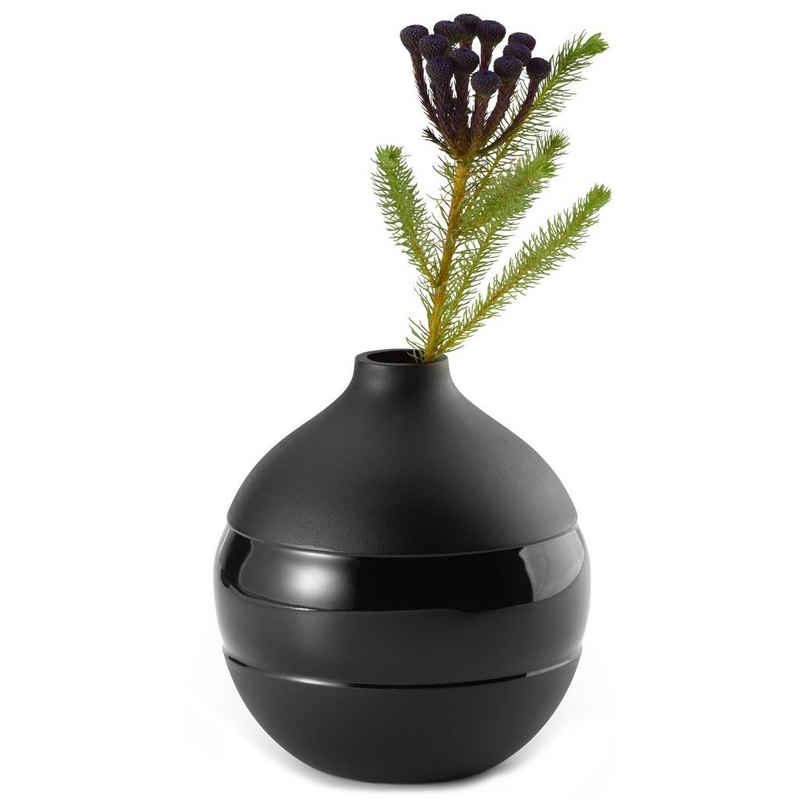 PHILIPPI Tischvase »Philippi Negretto Vase S schwarz aus Aluminium Höhe 16 cm«