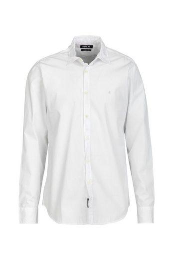 Replay Langarmhemd »Cotton Popeline«