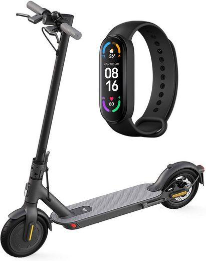 Xiaomi E-Scooter »Mi Electric Scooter 1S«, 600 W, 20 km/h, 8,5 Zoll Reifen, 30km Reichweite, & Mi Smart Band 6 Smartwatch«, 600 W W, 20,00 km/h, 8,5 Zoll Reifen, 30km Reichweite, App