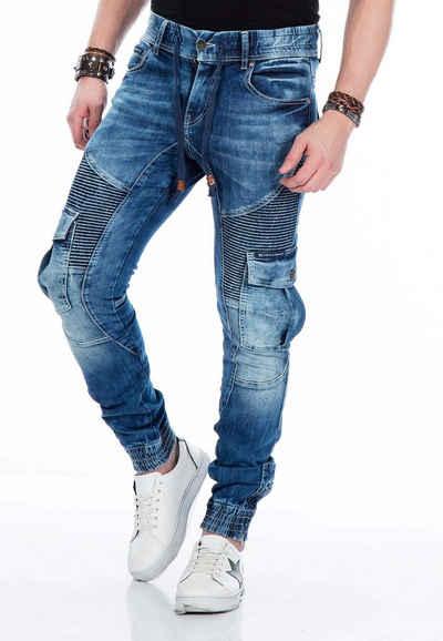 Cipo & Baxx Slim-fit-Jeans mit elastischen Bündchen am Saum