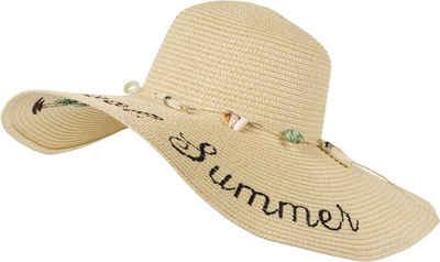 styleBREAKER Sonnenhut »Sonnenhut Cool Summer mit Muscheln und Quasten« Sonnenhut Cool Summer mit Muscheln und Quasten