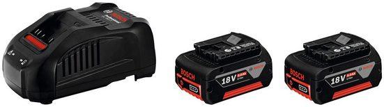 BOSCH PROFESSIONAL Akku-Set »GAL 1880 CV / GBA 18V 5.0Ah«, 2 Stk., 18 V, 5 Ah, inkl. Ladegerät