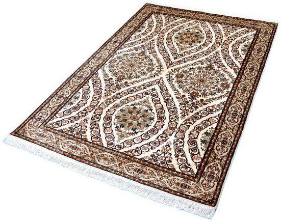 Seidenteppich »Allover 5367«, Kayoom, rechteckig, Höhe 10 mm, Einzelstück mit Zertifikat