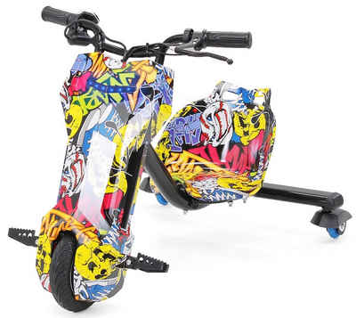 Actionbikes Motors Dreirad »Drifter 360«, 3-Stufen Drosselschalter, LED Beleuchtung vorne, Leuchtende 360° Rollen hinten
