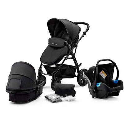 Kinderkraft Kombi-Kinderwagen »Kombi Kinderwagen Moov, 3in1, schwarz«