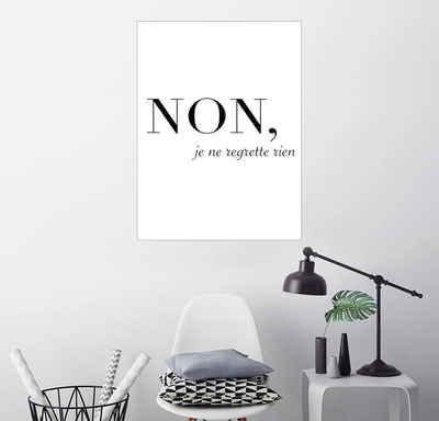 Posterlounge Wandbild, Non, je ne regrette rien - Nein, ich bereue nichts