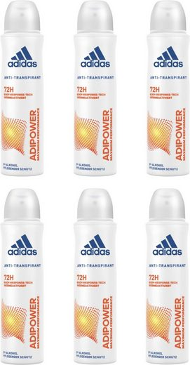 adidas Performance Deo-Spray »adipower«, Spar-Set, 6-tlg., Anti-Transpirant Spray für Frauen