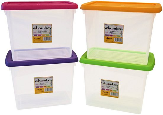 WHAM Set: Aufbewahrungsbox »Whambox«, 4er-Set, je 6,7 l