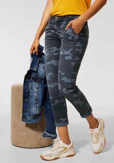 STREET ONE Ankle-Jeans »Jane« mit Nieten auf den Seiten