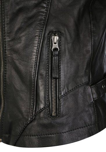 7eleven Lederjacke  Isabelle  mit asymmetrischem Reißverschluss