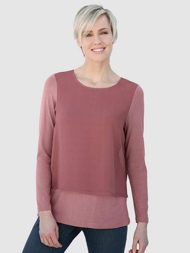 Laura Kent Shirtbluse in modischer Dopellagen-Optik
