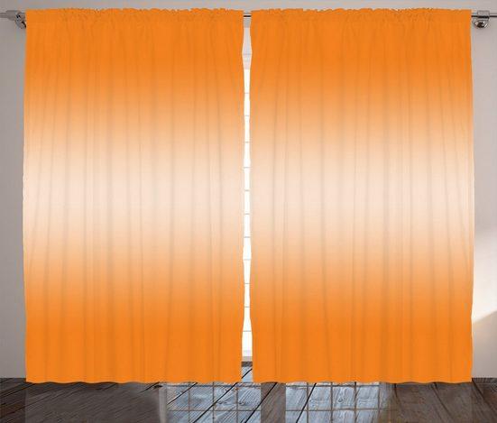 Gardine »Schlafzimmer Kräuselband Vorhang mit Schlaufen und Haken«, Abakuhaus, Ombre Hot-Strand-Sommer-Druck